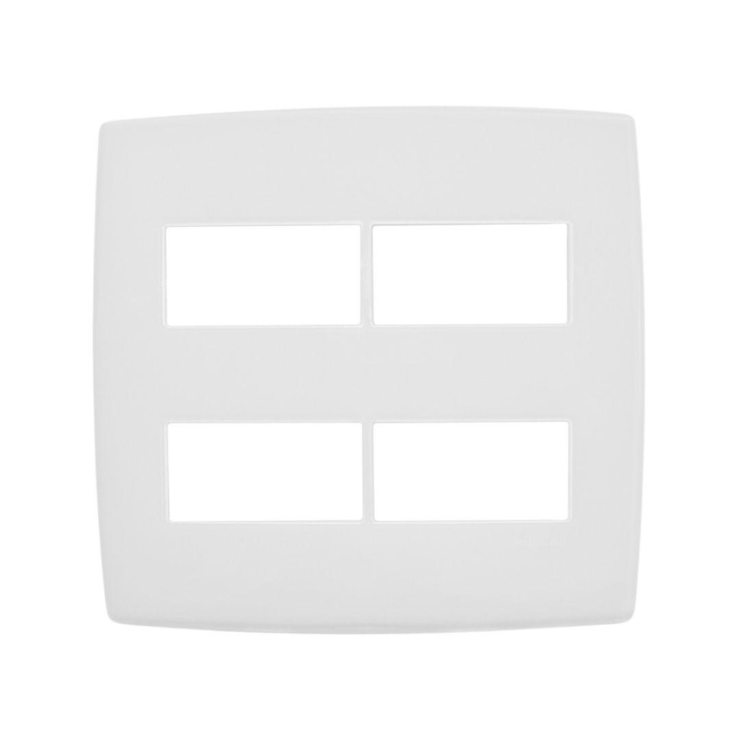 Placa 4x4 4 Postos Separados 2+2 618514 Pial Plus