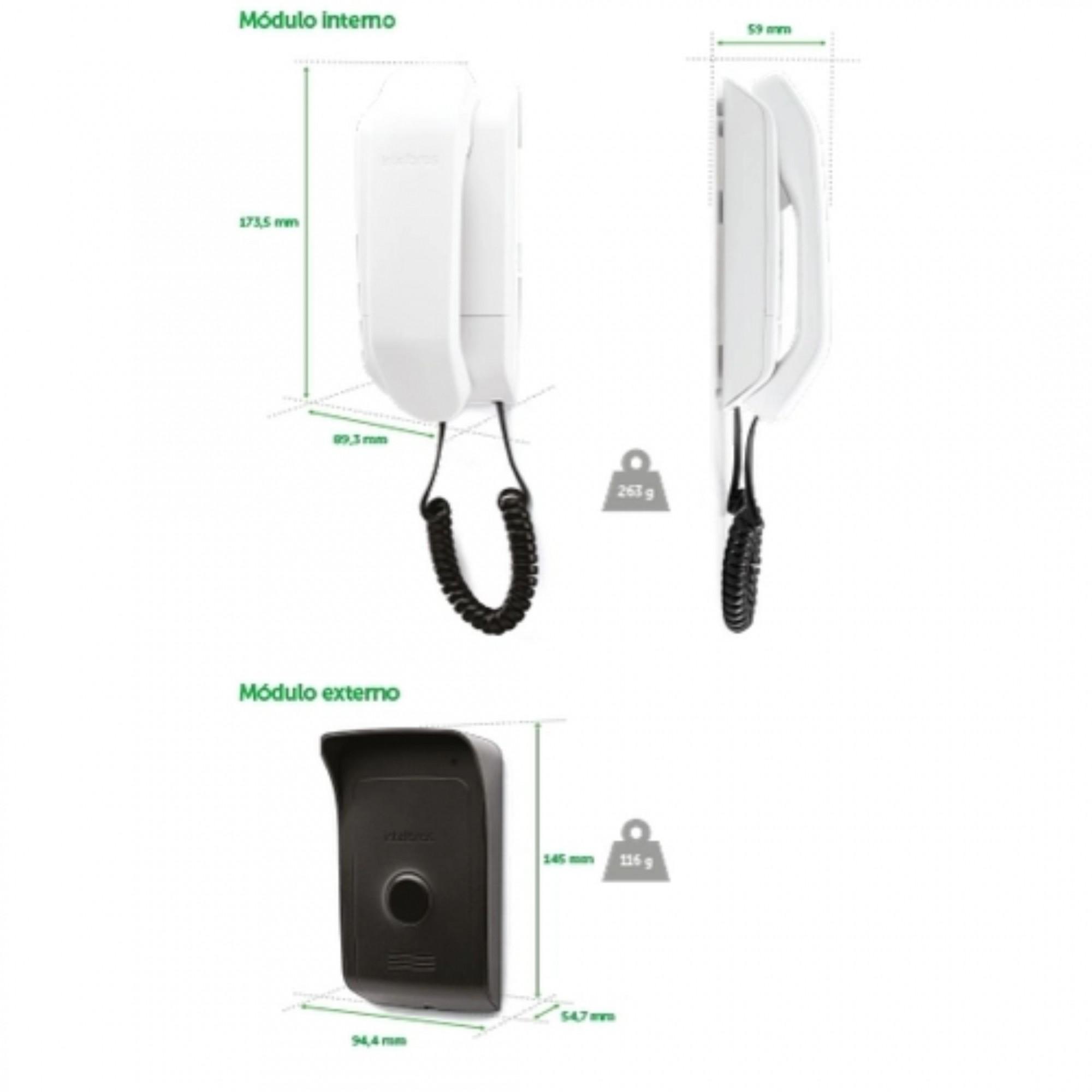 Porteiro Eletrônico Residencial IPR 8000 Intelbras