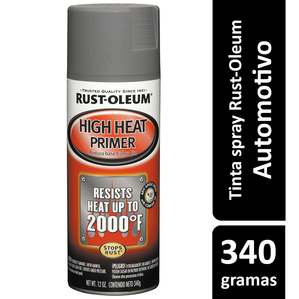 Primer Spray Alta Temperatura 1093ºC High Heat 340g Rust Oleum