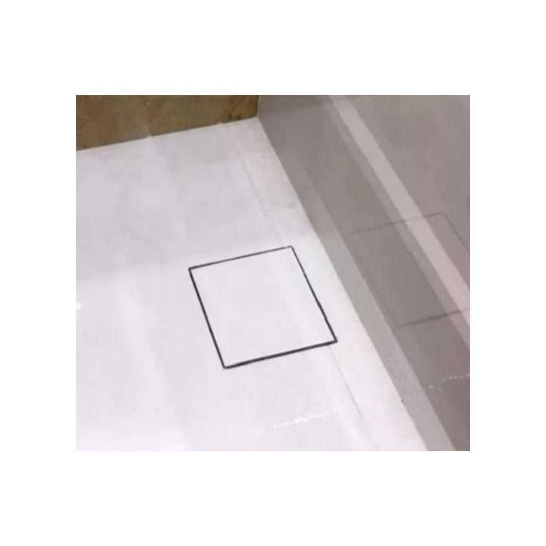 Ralo Oculto 15x15cm Inox Mirassol