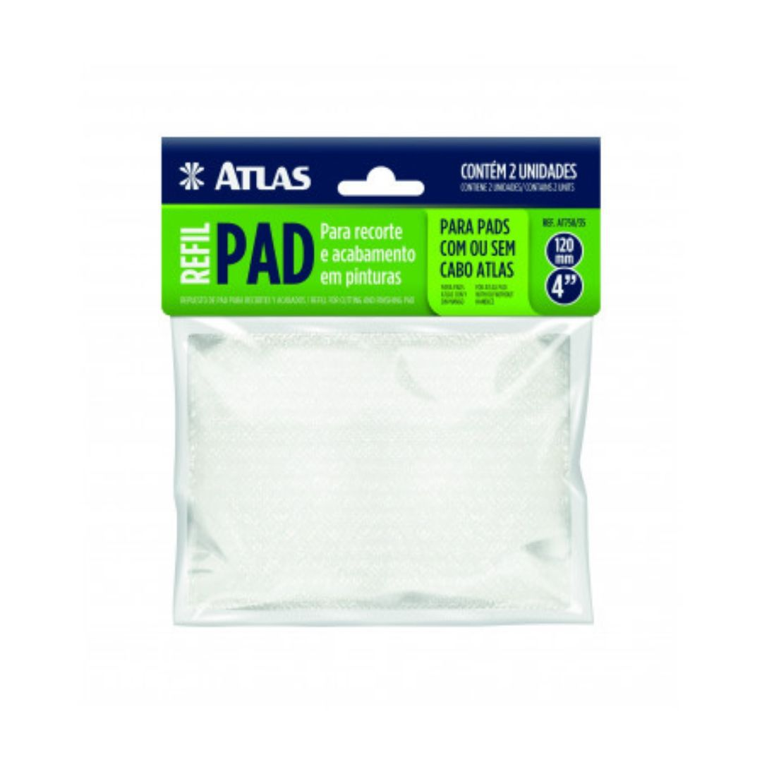 """Refil para Pad 4"""" Flocado de Pintura c/ 2 und  AT750/35 Atlas"""