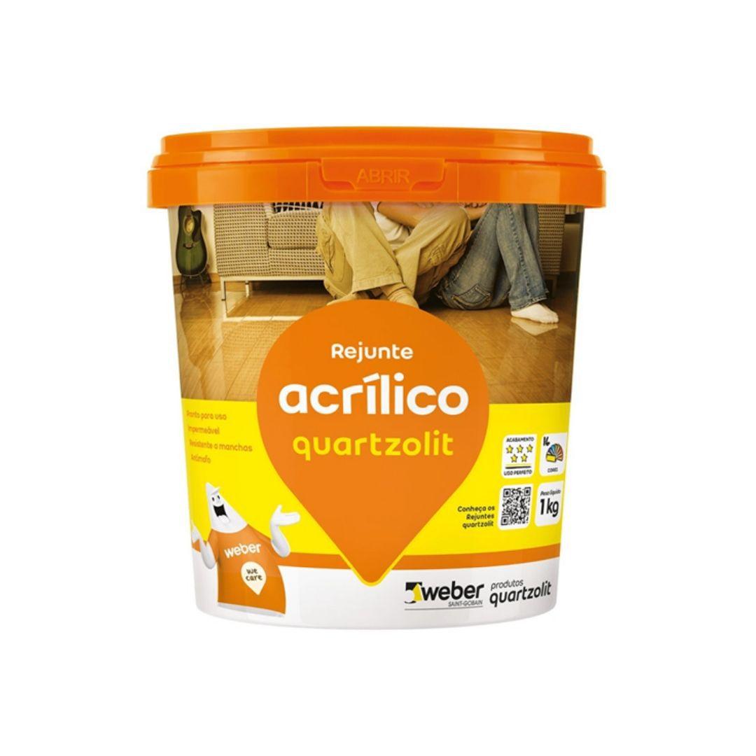 Rejunte Acrílico Cinza Artico 1Kg Quartzolit