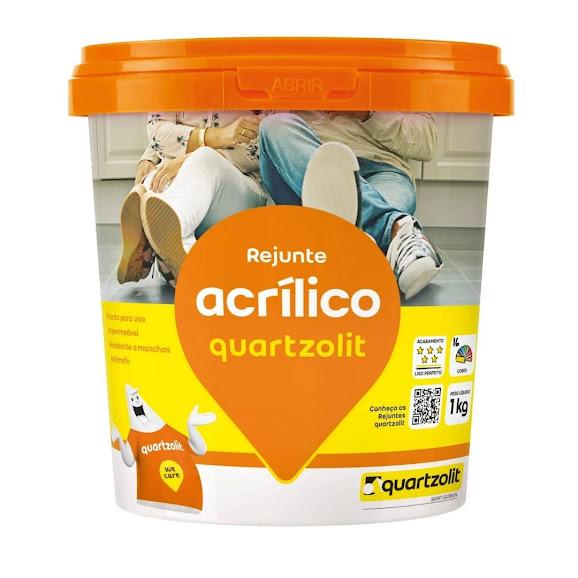 Rejunte Acrílico Preto Grafite 1kg Quartzolit