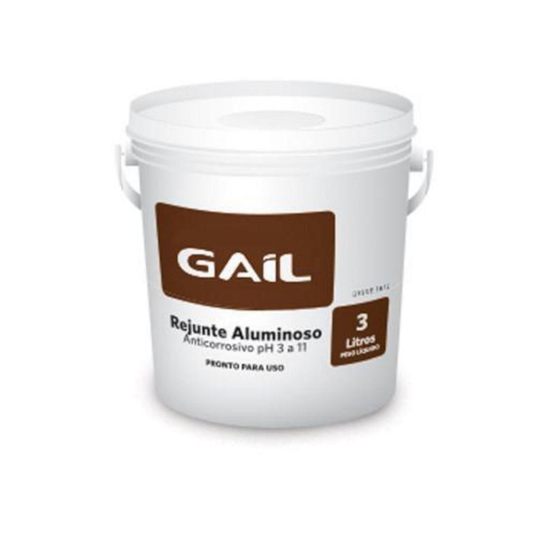 Rejunte Aluminoso Bege Acinzentado Para Piso Cerâmico 3kg  Gail