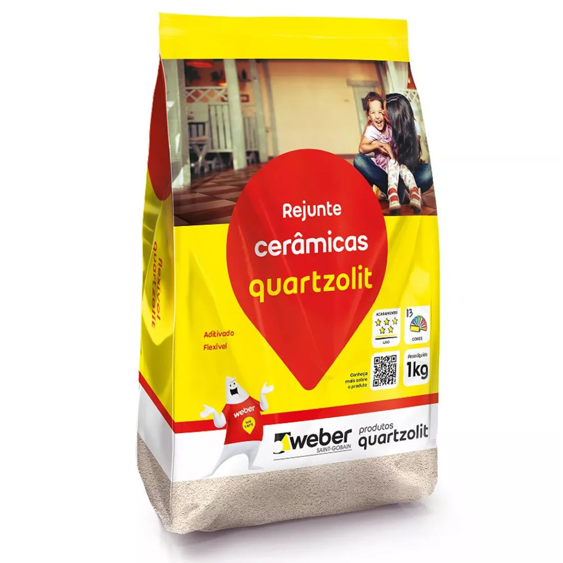 Rejunte Cinza Platina 5kg Quartzolit