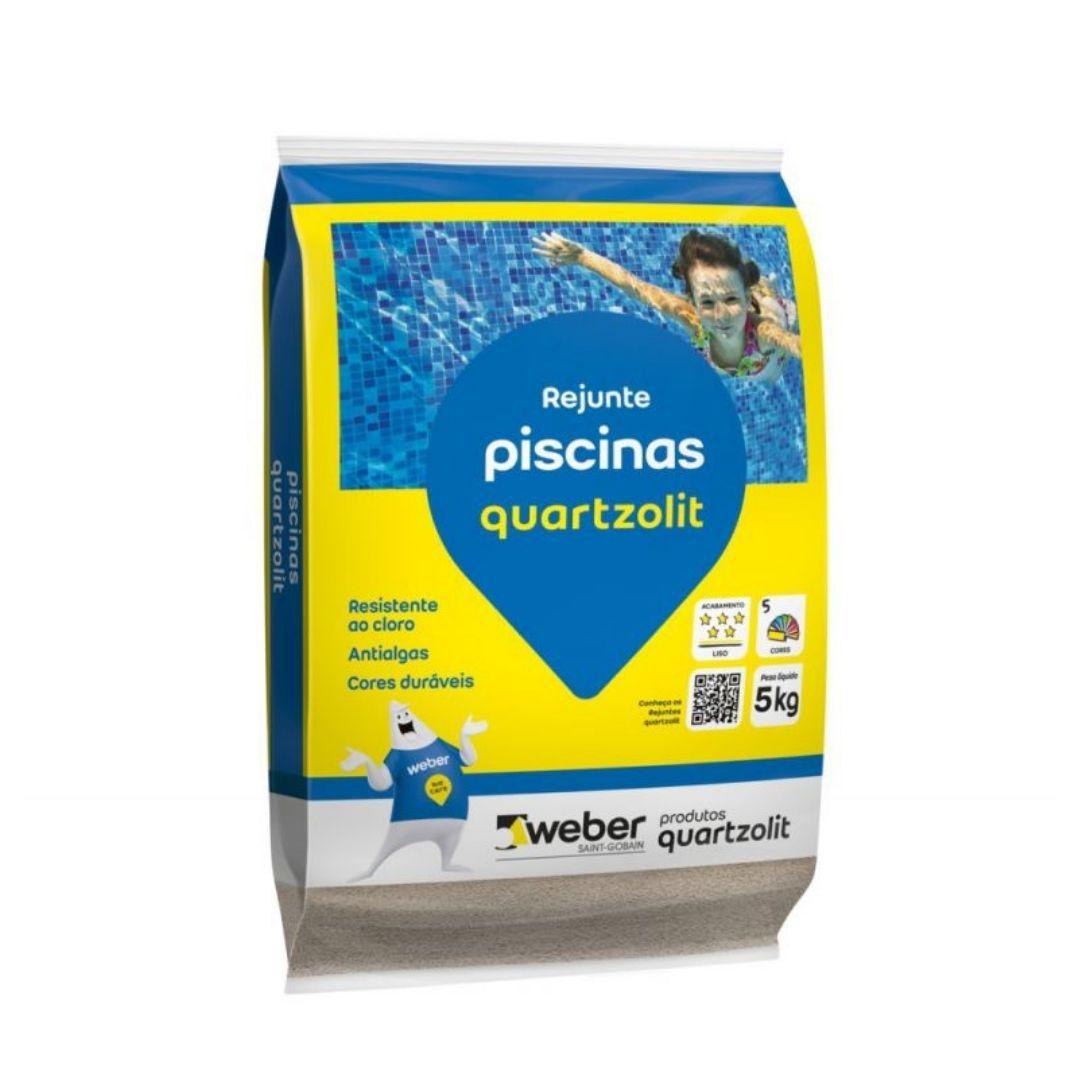 Rejunte Para Piscina Azul Cobalto 5Kg Quartzolit