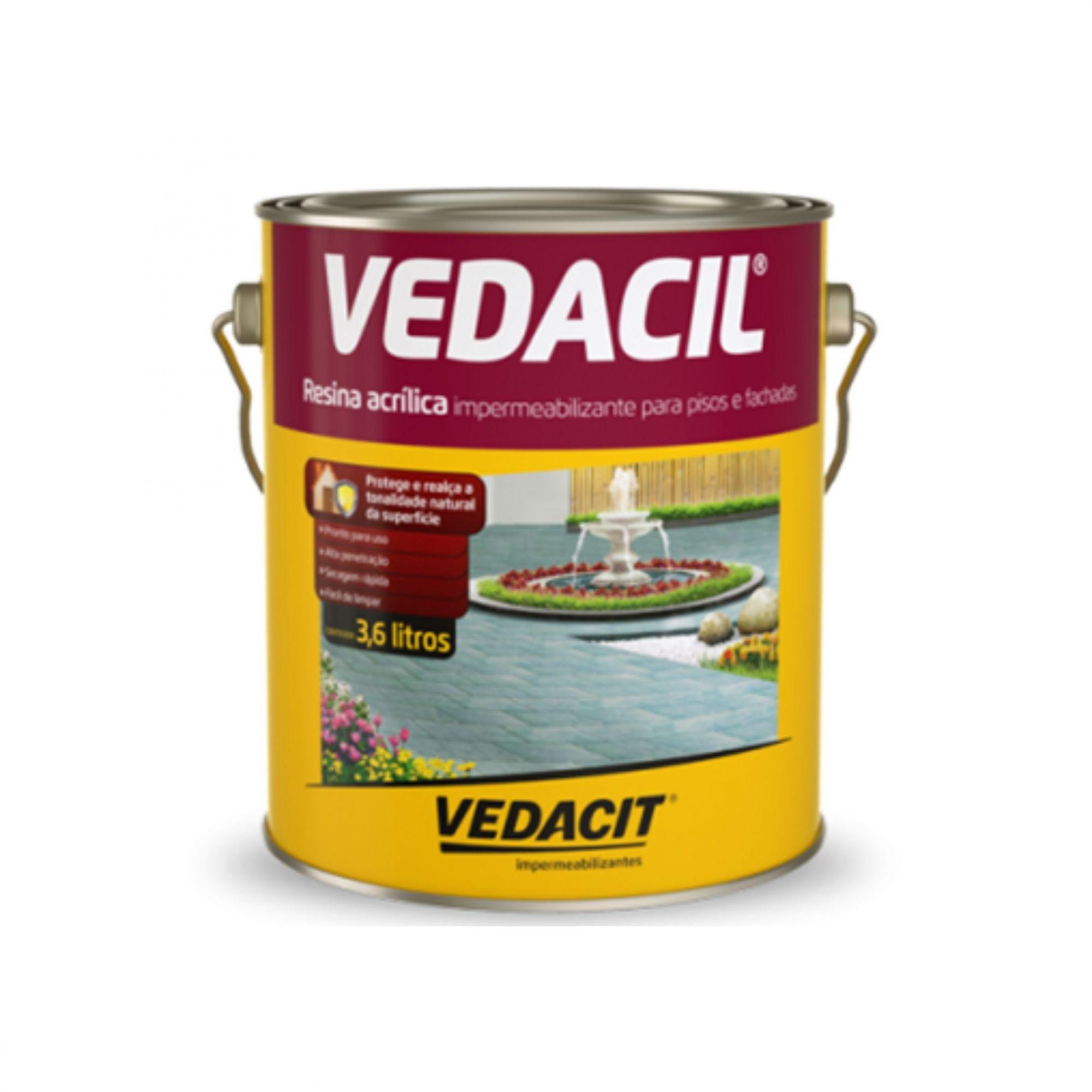 Resina Acrílica Vedacil 3,6 Litros Vedacit