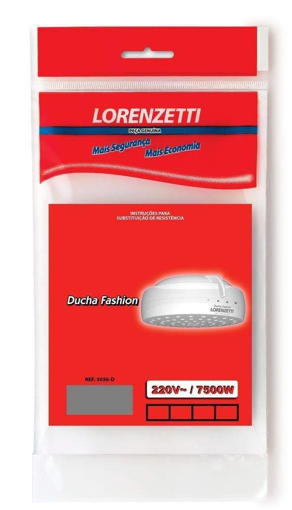 Resistência Ducha Fashion 7500W 220V 3056D Lorenzetti