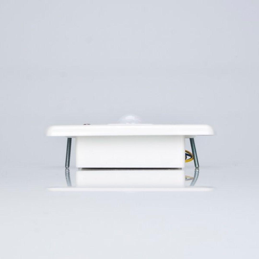 Sensor de Presença de Parede Embutir c/ Fotocélula Branco MPE-20F Margirius