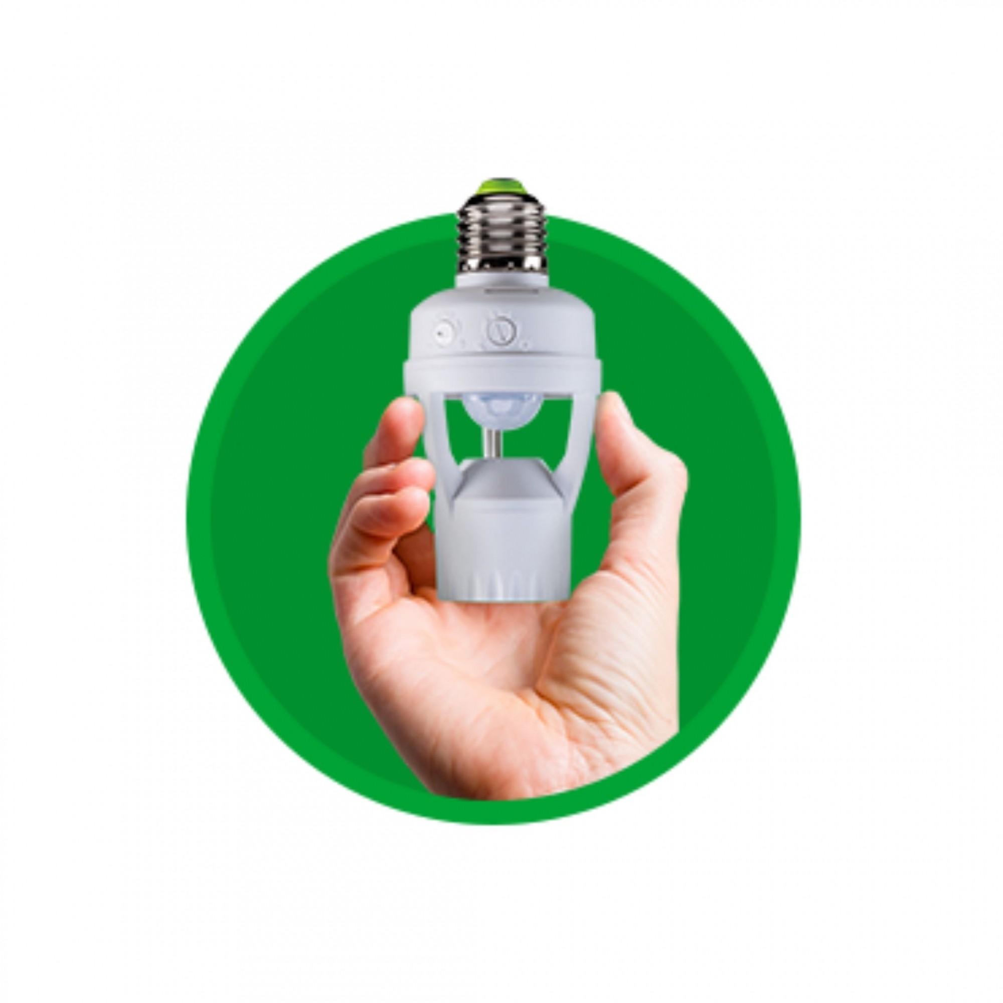 Sensor de Presença para Iluminação com Soquete E27 ESP 360 S Intelbras