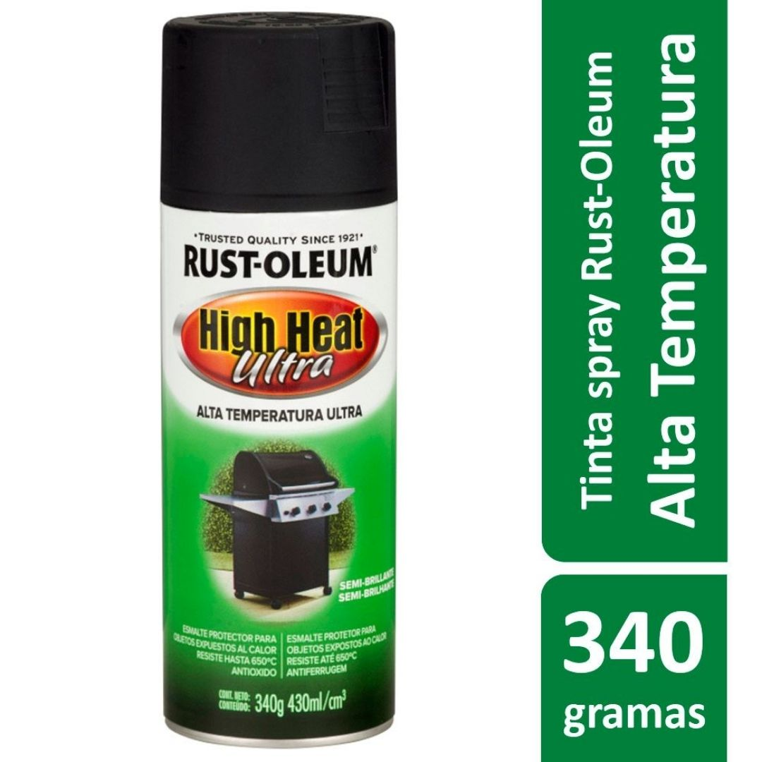 Spray Alta Temperatura Preto Ref: 21306 Rust Oleum