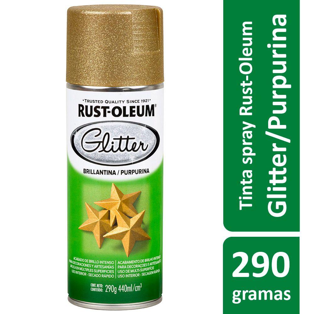 Tinta Spray Glitter Ouro 440ml Rust Oleum