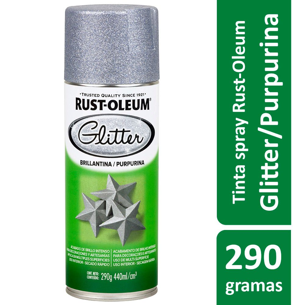 SPRAY GLITTER Prata 440ml Ref:274920  Rust-Oleum
