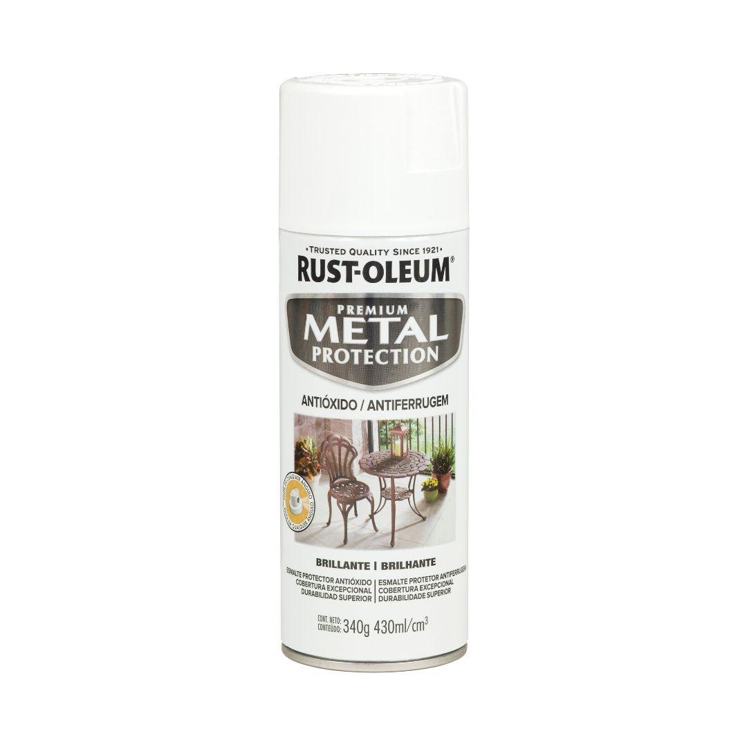 Spray Metal Protection Anticorrosivo Branco Brilhante 340g Rust Oleum