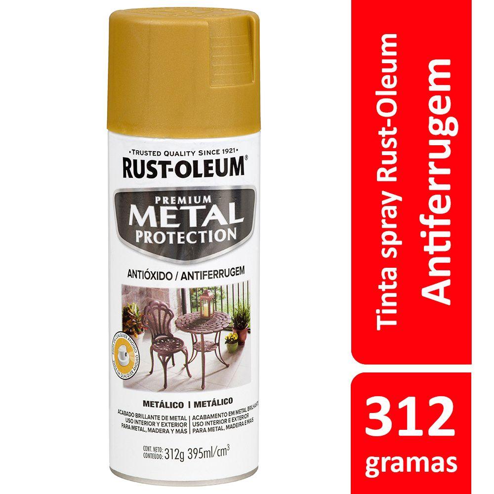 Spray Metal Protection Anticorrosivo Martillado Ouro Metálico 340g Rust Oleum