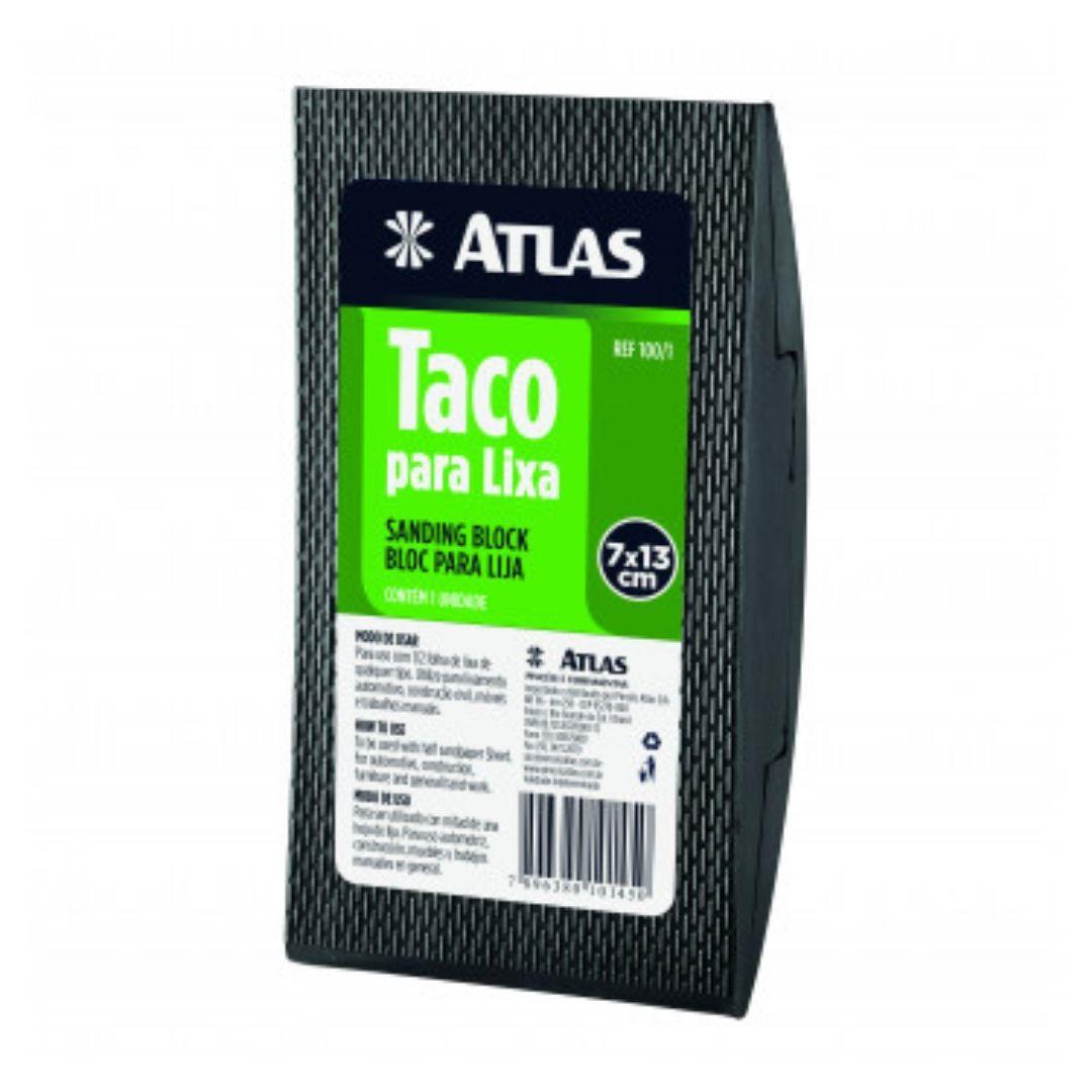 Taco Para Lixa De PVC 7 x 13cm 100/1 Atlas