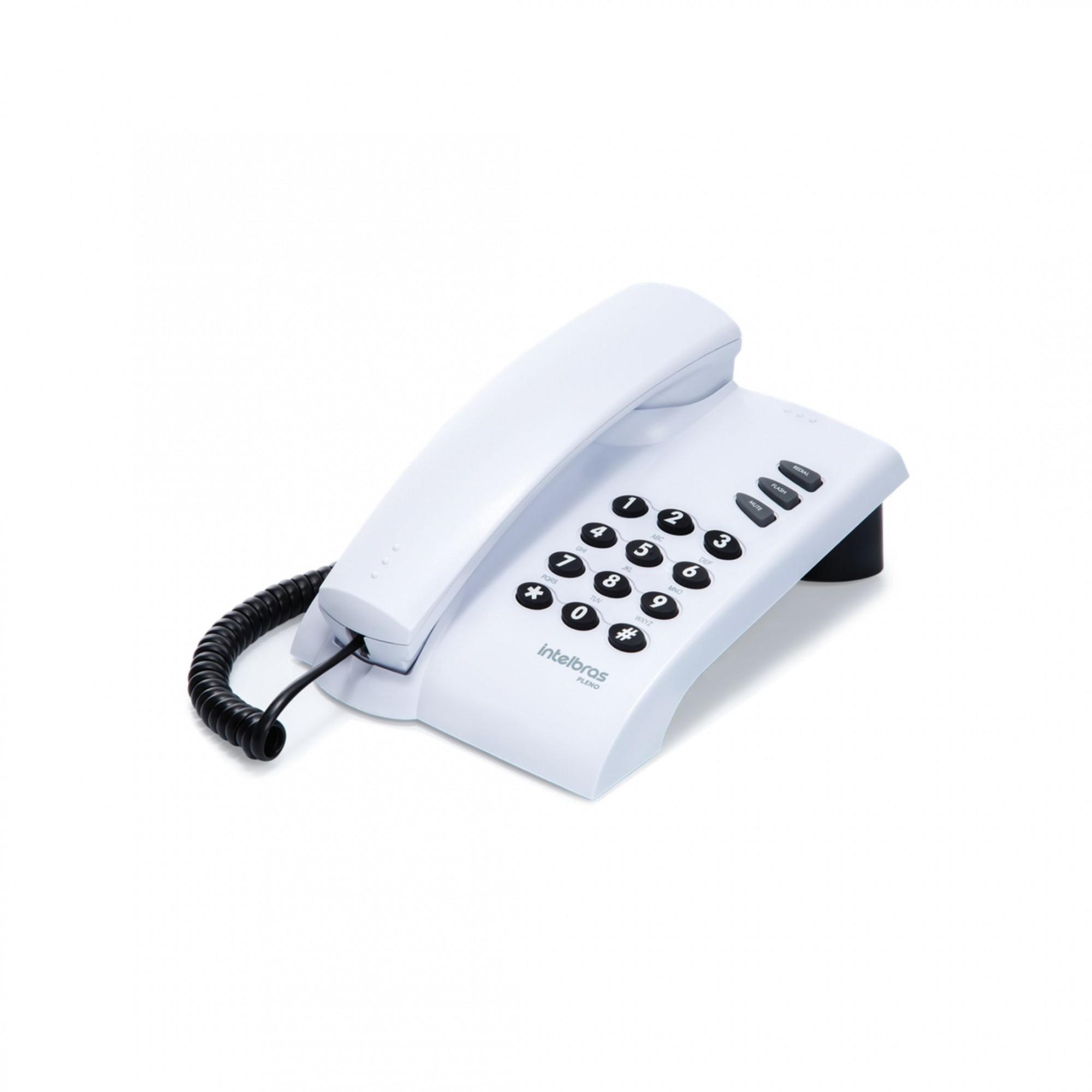 Telefone com Fio Pleno Branco Intelbras
