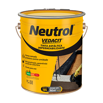 Tinta Asfáltica Neutrol 18 Litros Vedacit