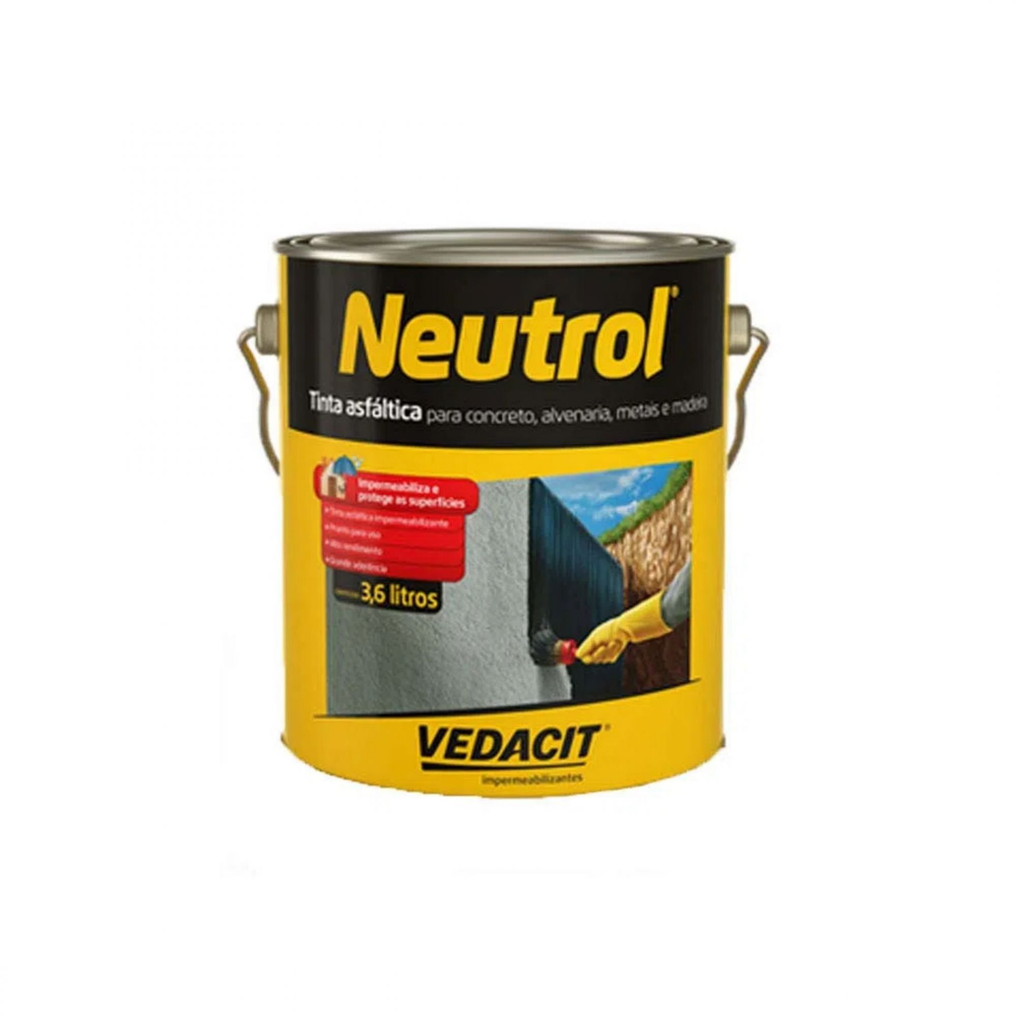 Tinta Asfáltica Neutrol 3,6 Litros Vedacit