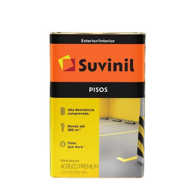 Tinta Piso Amarelo Demarcação Fosco 18 litros Suvinil