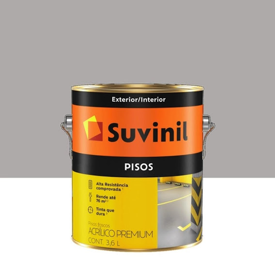 Tinta Piso Cinza Fosco 3,6 Litros Suvinil