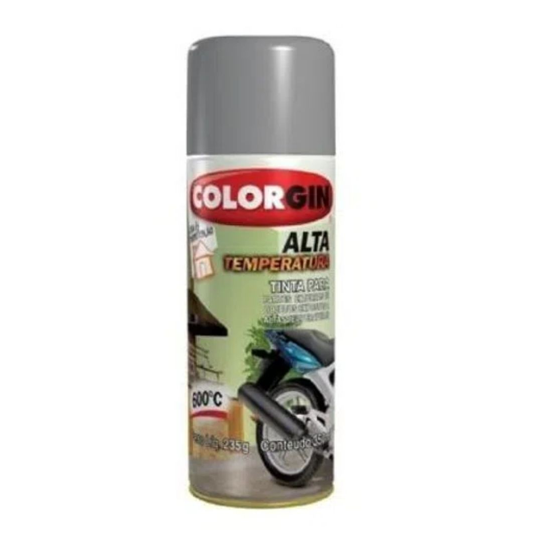 Tinta Spray Alta Temperatura Aluminio 300ml Ref: 5723 Colorgin