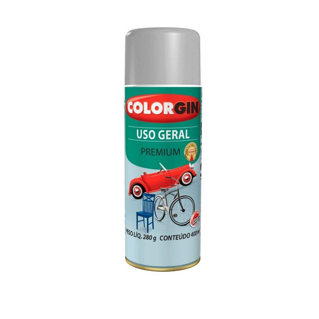 Tinta Spray Aluminio 400ml Ref: 55001 Colorgin