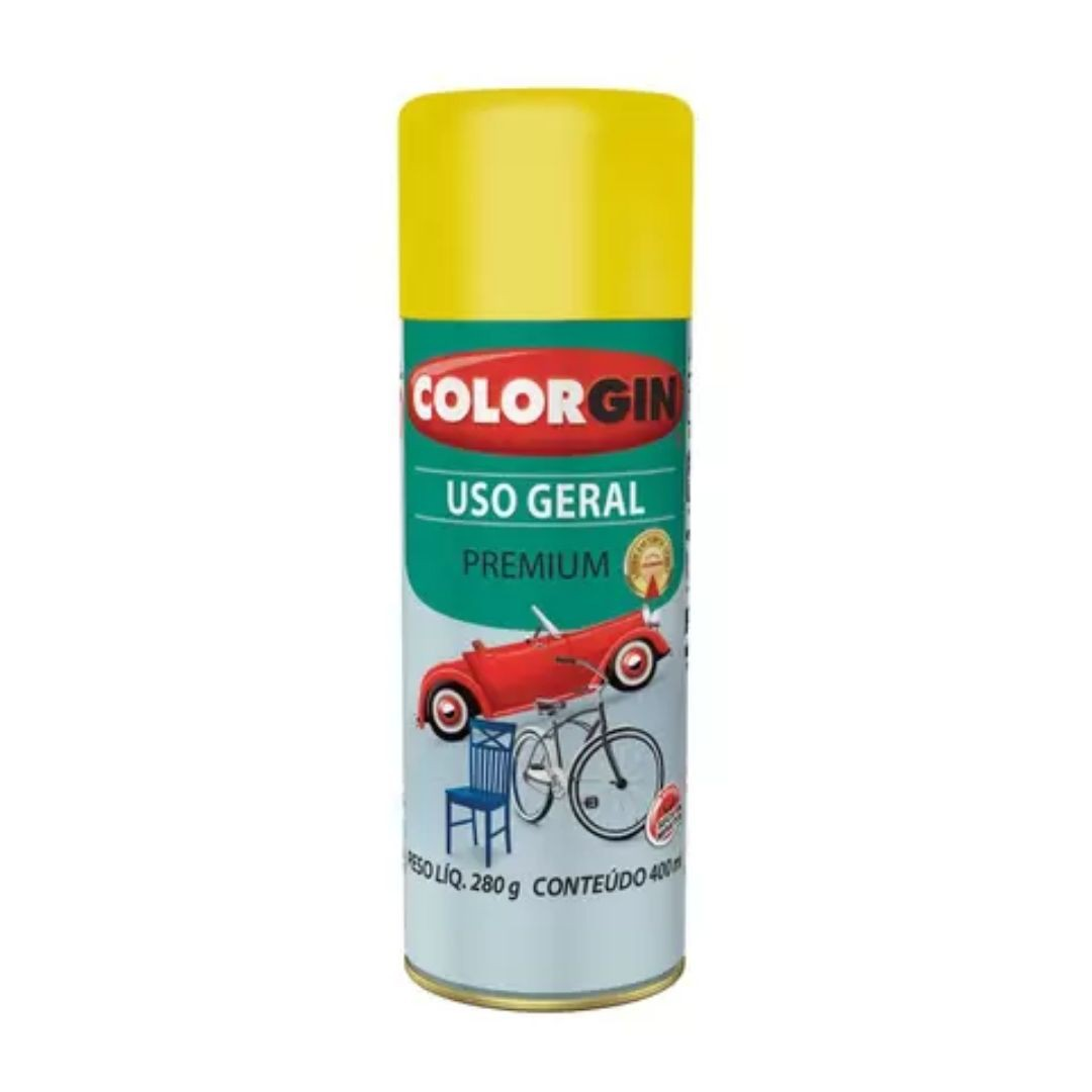 Tinta Spray Amarelo 400ml Ref: 55081 Colorgin