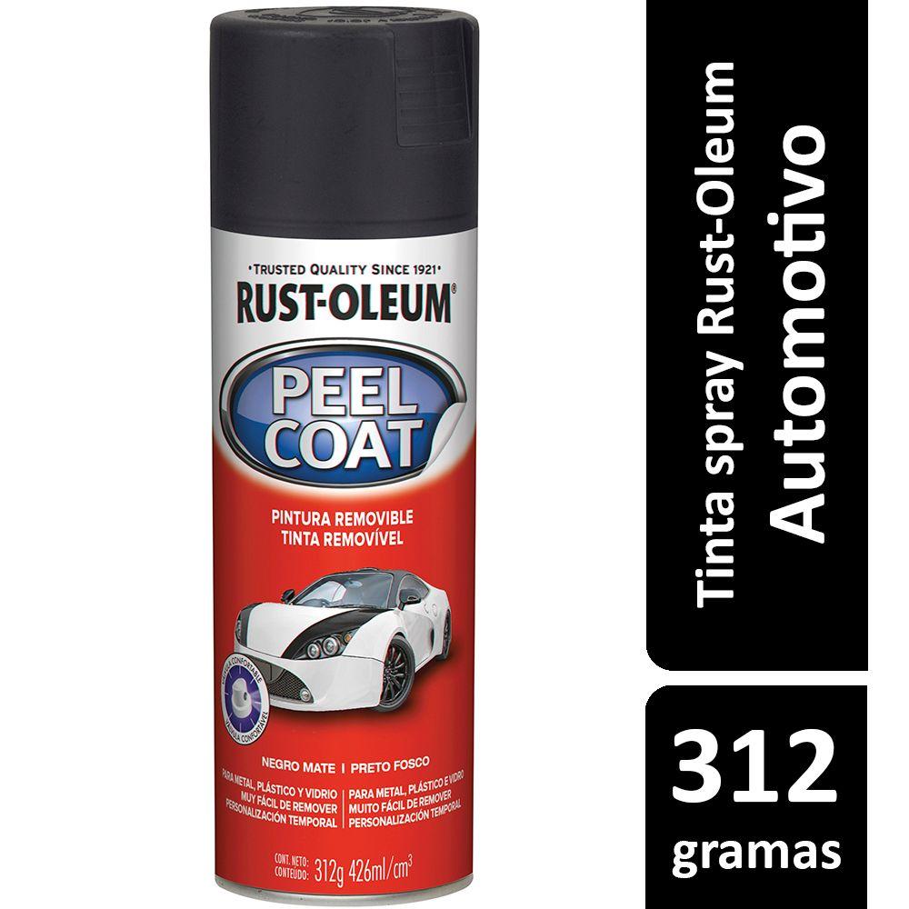 Tinta Spray Automotiva Envelopamento Removível Preto Fosco Rust Oleum