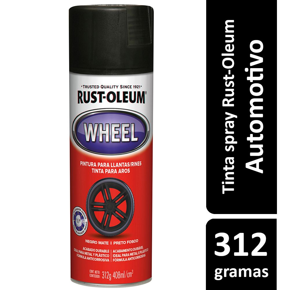 Tinta Spray Automotiva Para Rodas Preto Brilhante Rust Oleum