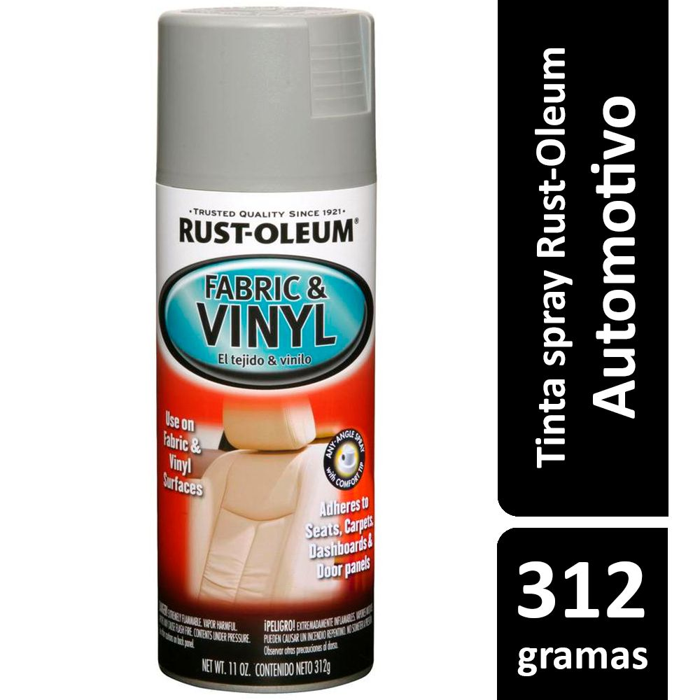 Tinta Spray Automotiva Para Tecidos e Vinil Cinza Rust Oleum