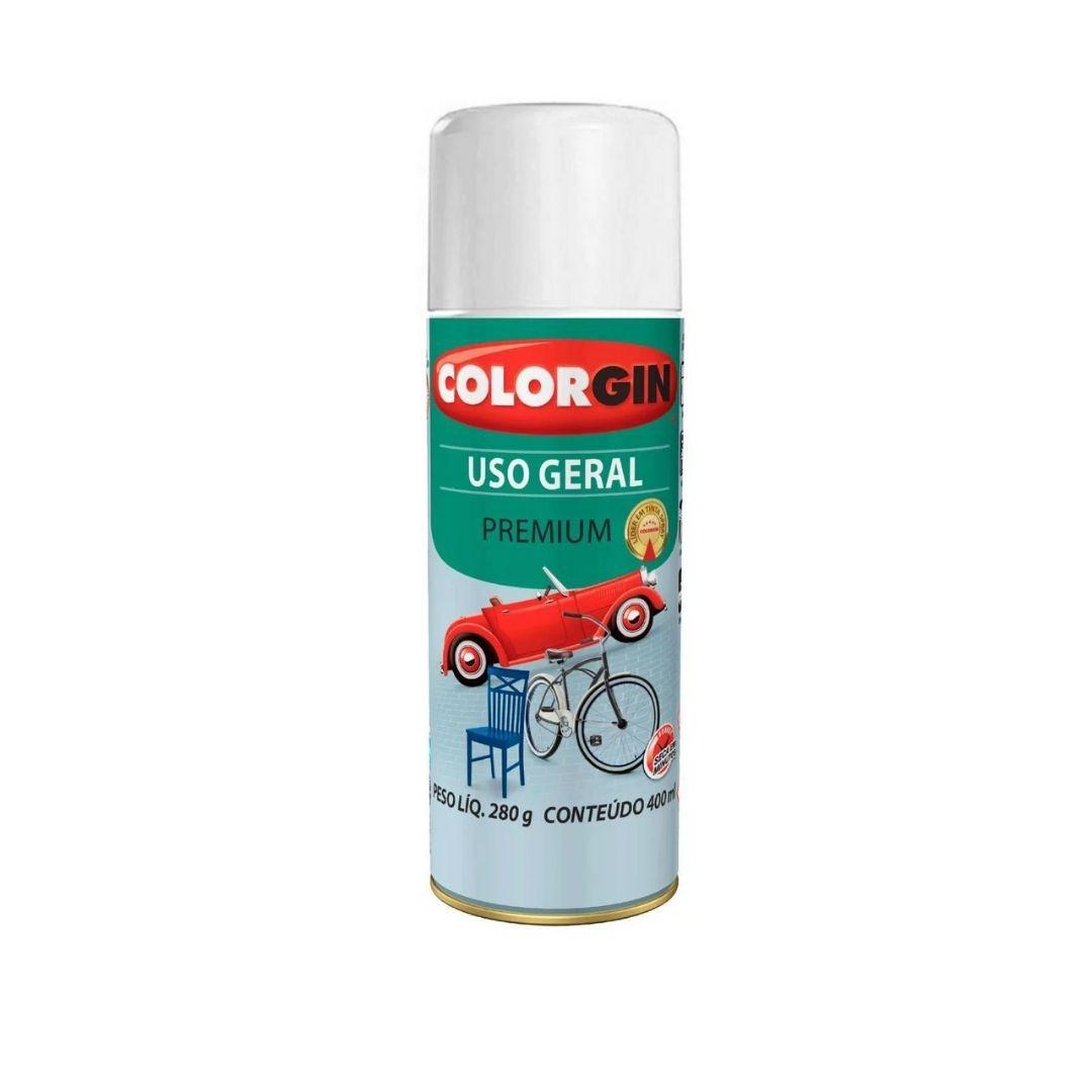 Tinta Spray Branco Acabame 400ml Ref: 55011 Colorgin