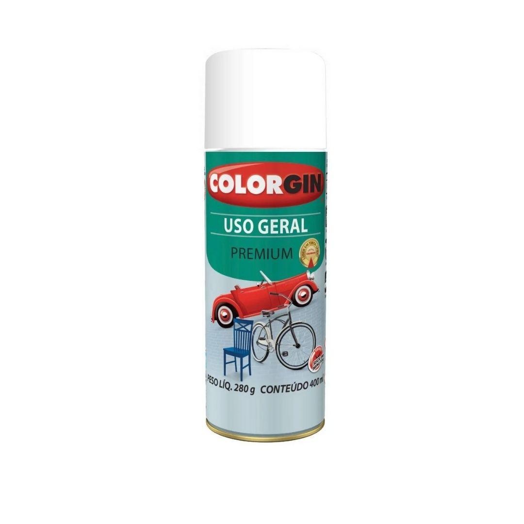Tinta Spray Branco Fosco 400ml Ref: 54011 Colorgin