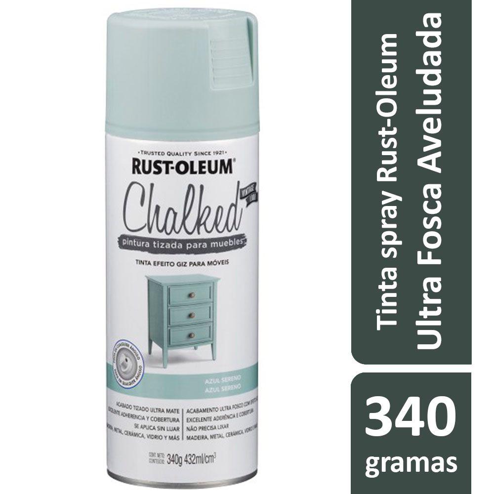 Tinta Spray Chalked Efeito Giz Azul Calmo Rust Oleum