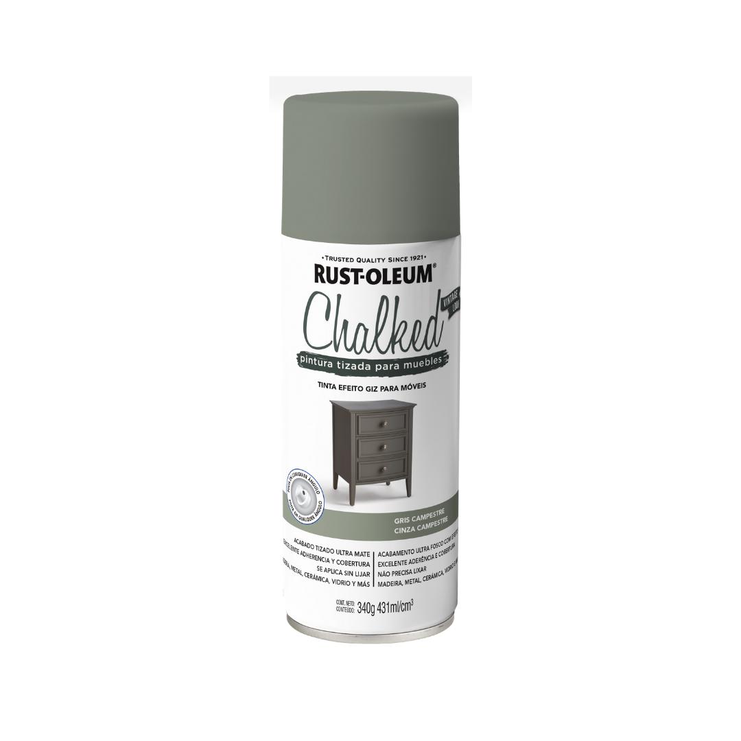 Tinta Spray Chalked Efeito Giz Cinza Carvão Rust Oleum