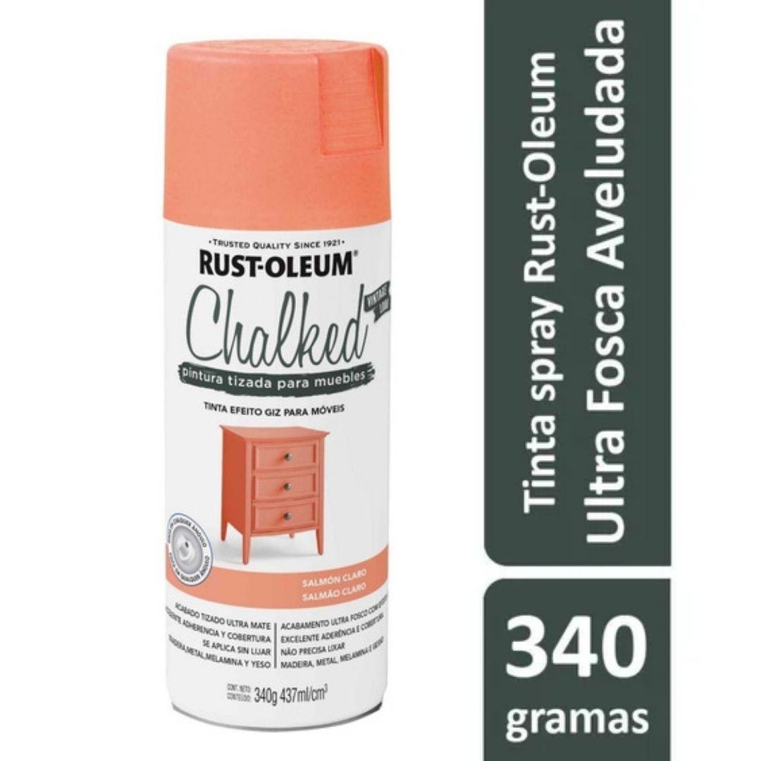 Tinta Spray Chalked Efeito Giz Salmão Claro Rust Oleum