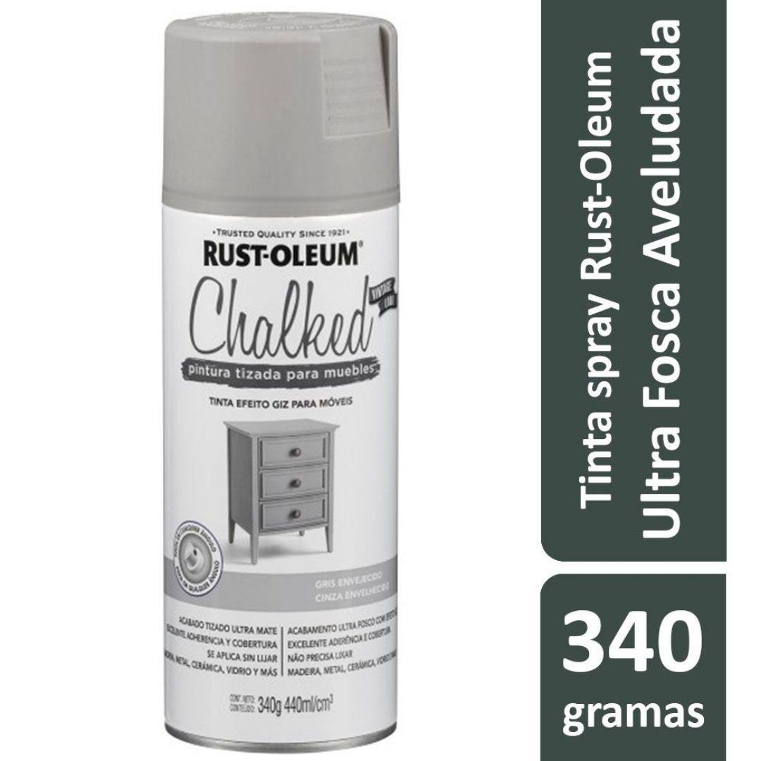 Tinta Spray Chalked Efeito Giz Cinza Envelhecido Rust-Oleum