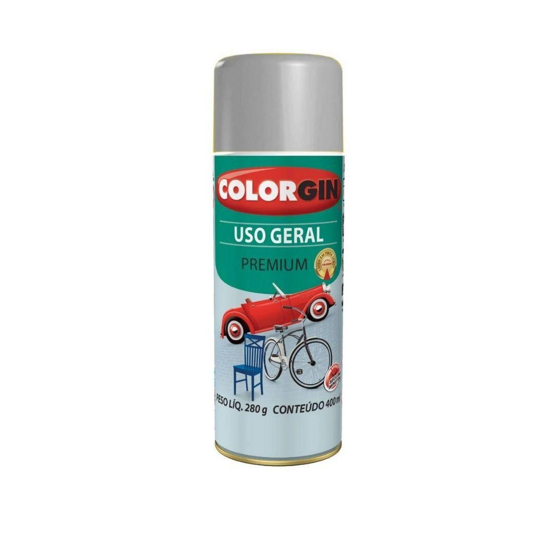 Tinta Spray Cinza Placa 400ml Ref: 55041 Colorgin