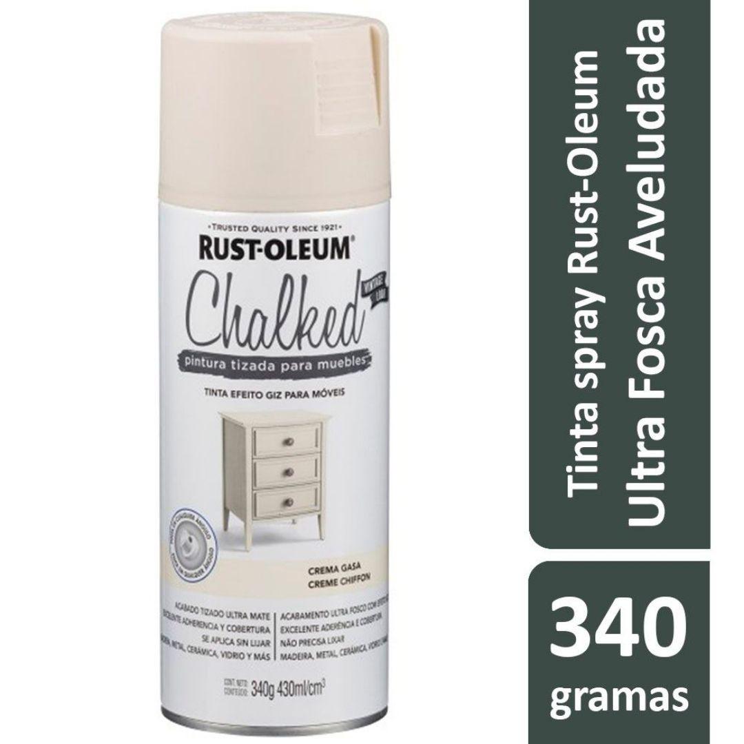 Tinta Spray Efeito Giz Ultra Fosco Creme Ref: 21319 Rust-Oleum
