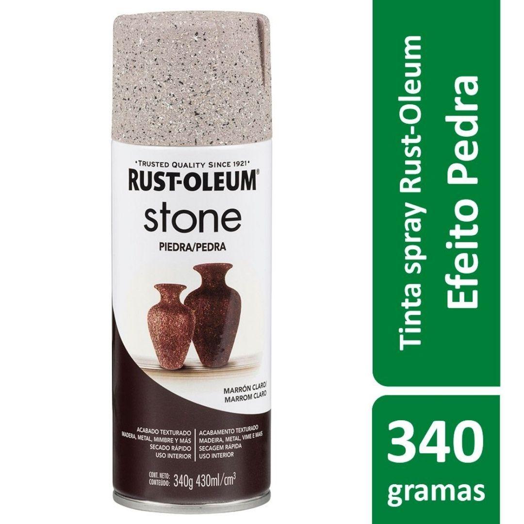 Tinta Spray Efeito Pedra Stone Marrom Claro Rust Oleum