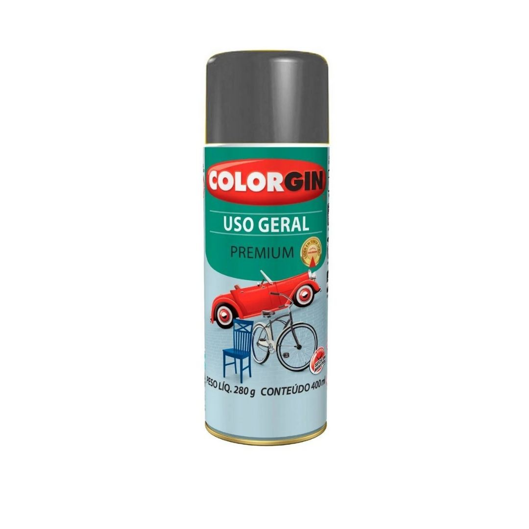Tinta Spray Grafite 400ml Ref: 57001 Colorgin