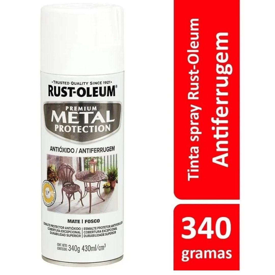 Tinta Spray Metal Protection Branco Fosco Rust Oleum