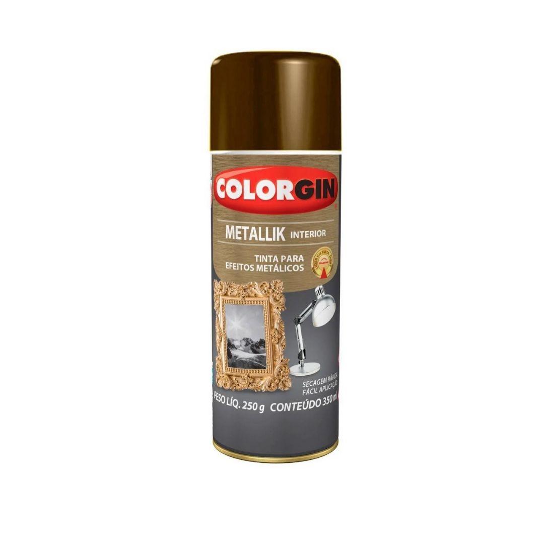 Tinta Spray Metallik Bronze 350ml Ref: 055 Colorgin