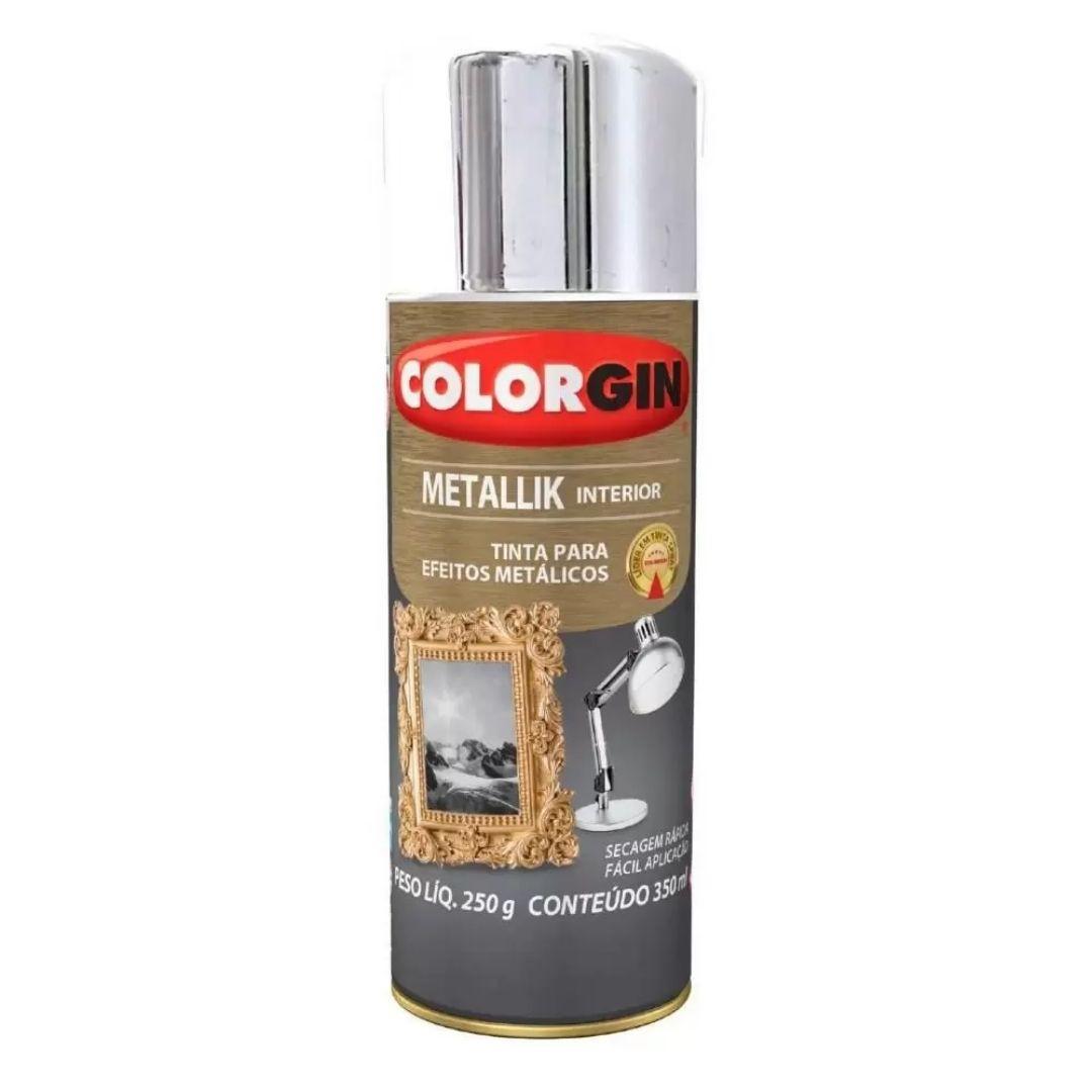 Tinta Spray Metallik Cromado 350ml Ref: 051 Colorgin