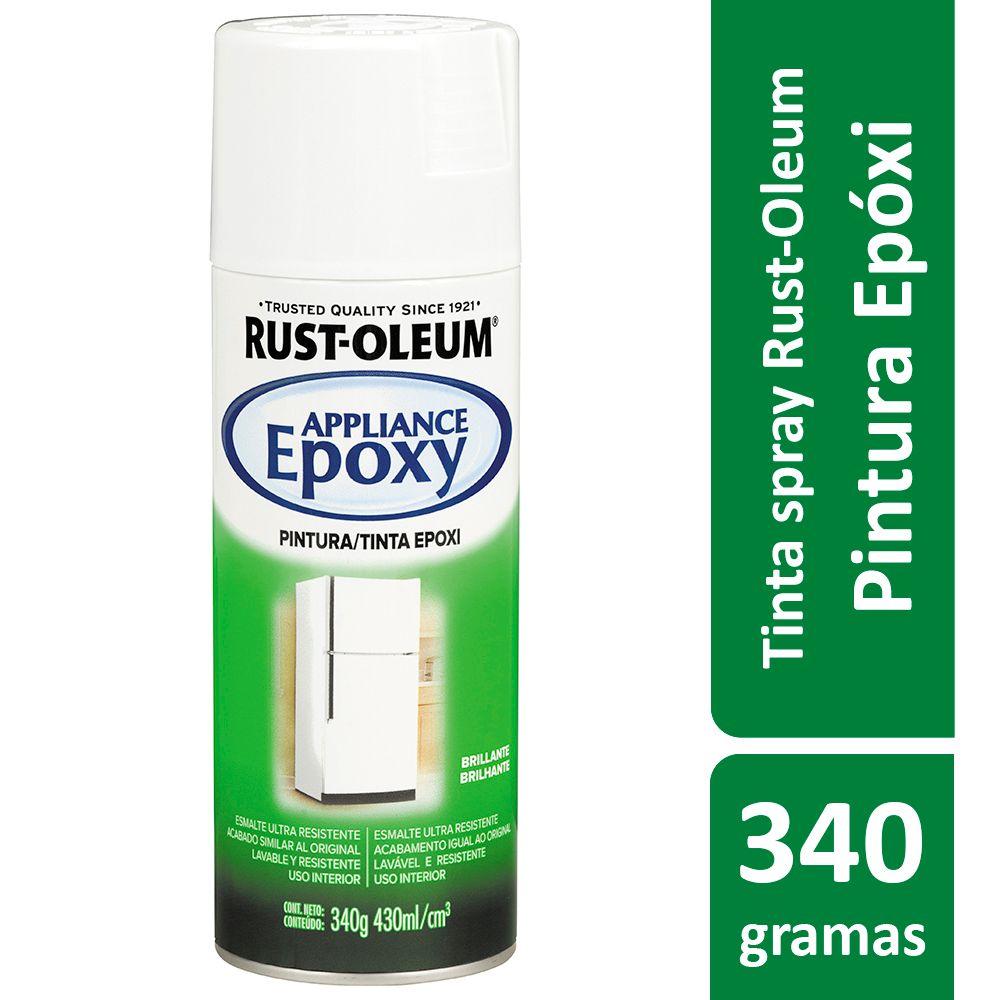 Tinta Spray Para Eletrodomésticos Epoxy Branco Brilhante Rust Oleum