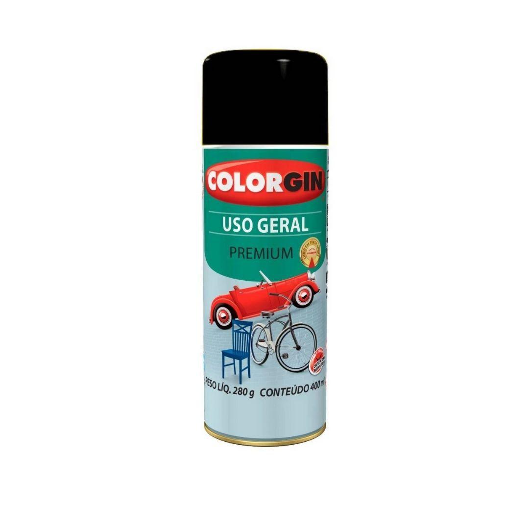 Tinta Spray  Preto Fosco 400ml Ref: 54001Colorgin