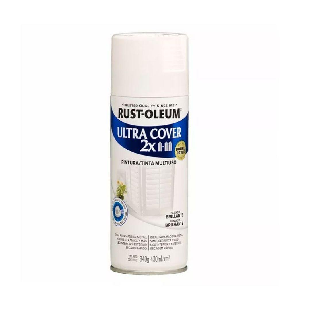 Tinta Spray Ultra Cobertura Branco Brilhante Ultra Cover 340g Rust Oleum