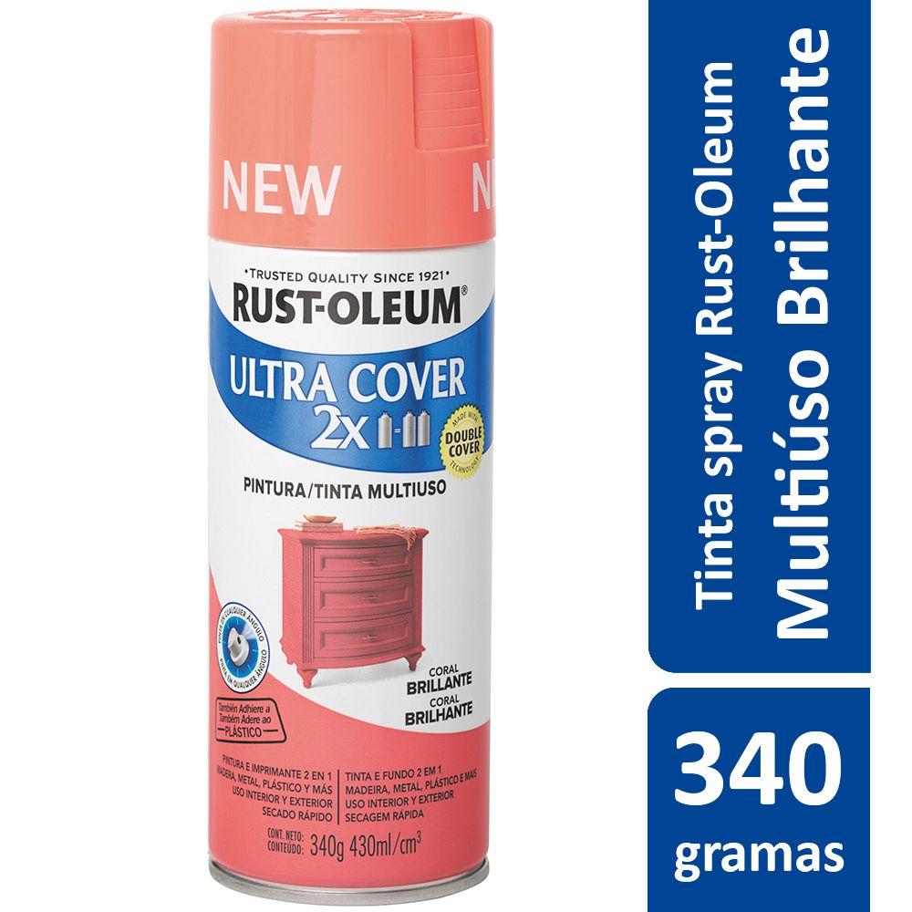 Tinta Spray Ultra Cobertura Coral Brilhante Ultra Cover 340g Rust Oleum