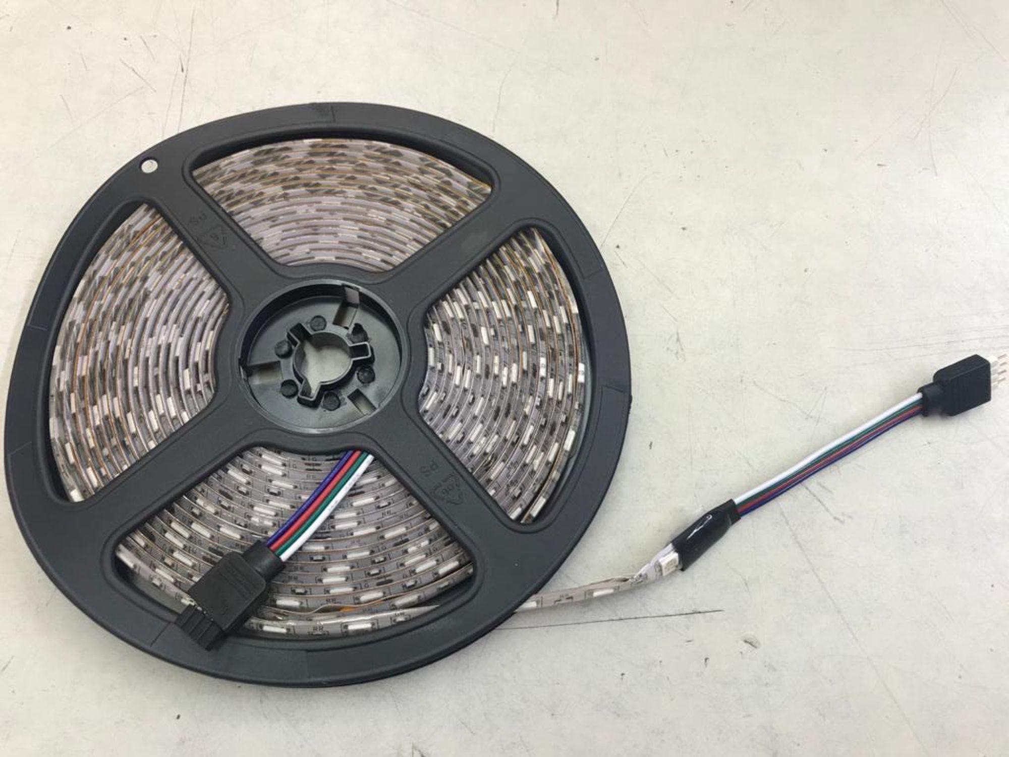 FITA LED RGB COM 5 METROS COMPLETA