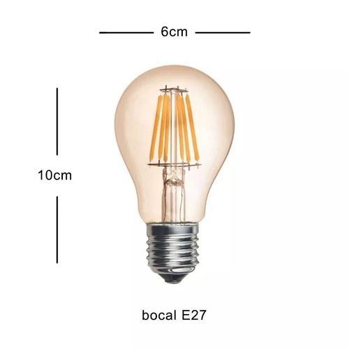 LAMPADA LED RETRO A60 4W E27 2000K MB BIV